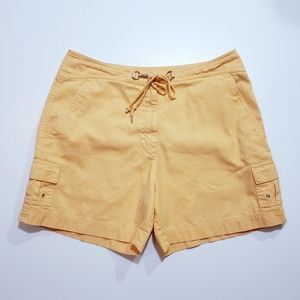 Womens Talbots Highrise Cotton Cargo Shorts